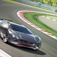 Futuristic Peugeot From Virtual Race-Track