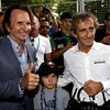 Nelson Piquet in Alain Prost: champ's father and boss of this seasons' best team share 7 Formula One titles between them.