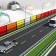 Noise barriers producing enough electricity to supply 50 households