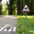 Tiny road signs for tiny city residents of Vilnius