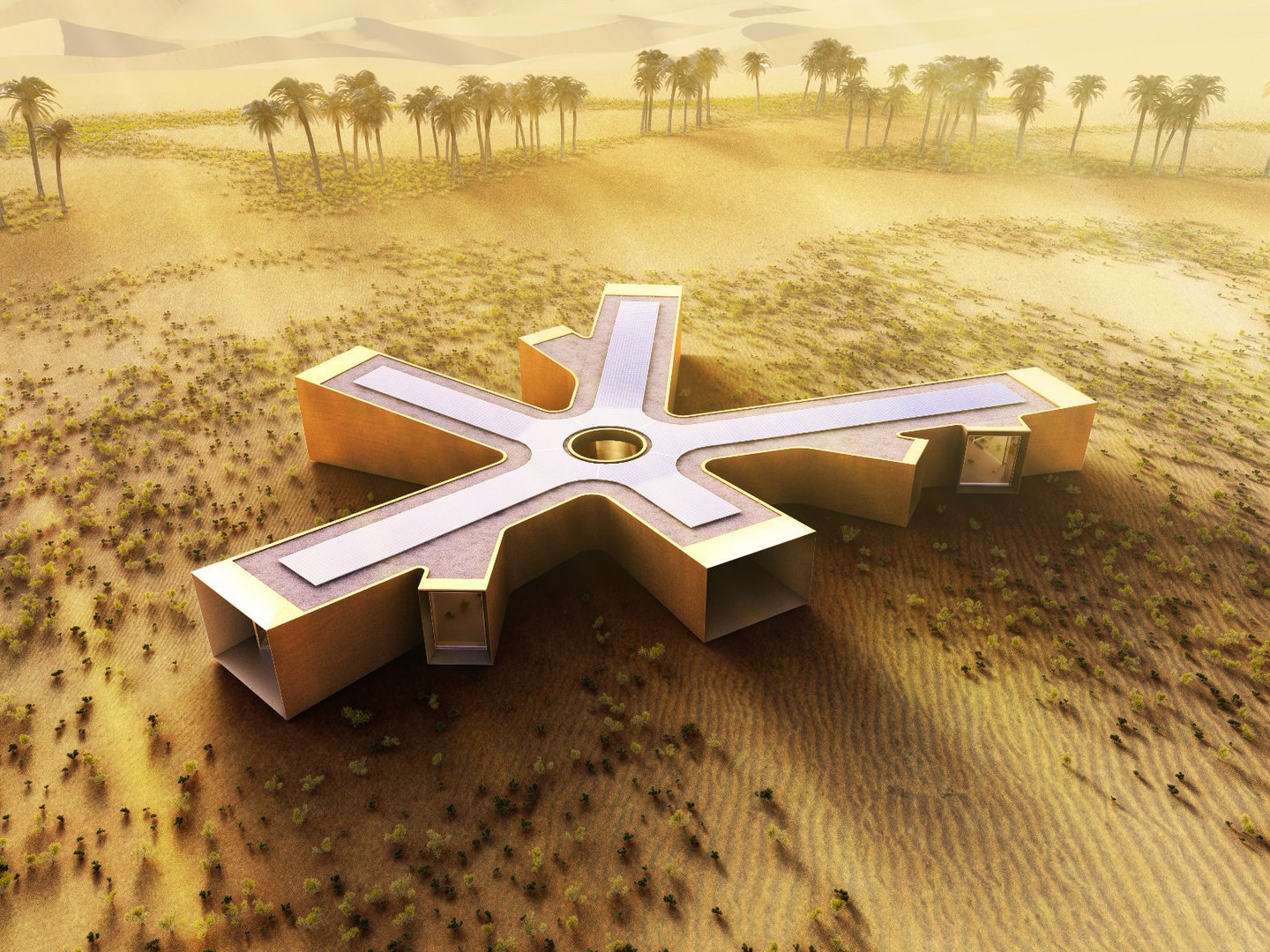 A vacation home in the desert living plugin Home of architecture planning uae