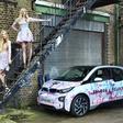 """Florida Flamingo"" funky prints on BMW i3"