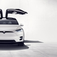 Tesla Model X celebrates Christmas with spectacular light show