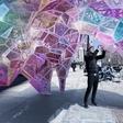 Lost in Flatiron Plaza's futuristic kaleidoscope