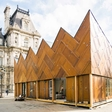 Pavilion Circulaire: Created with 180 Recycled Wooden Doors