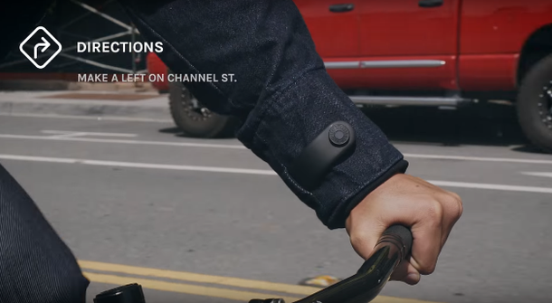Cycling smart with denim wearable tech by Levi's and Google