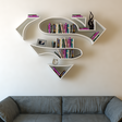 Burak Doğan's superb superhero bookshelves