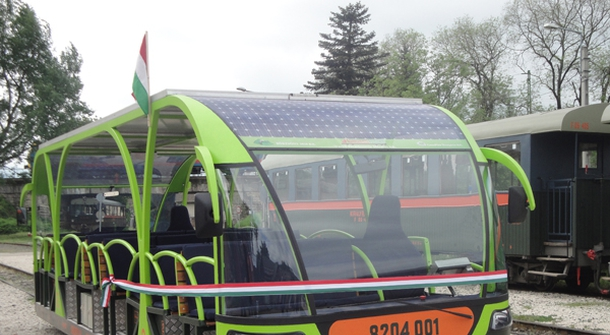 Riding 'Vili', a solar-powered electric passenger railcar
