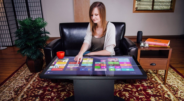 The World's First UHD 4K Multitouch Coffee Table