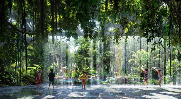 Rainforest on a building? Why not, we're in Dubai!