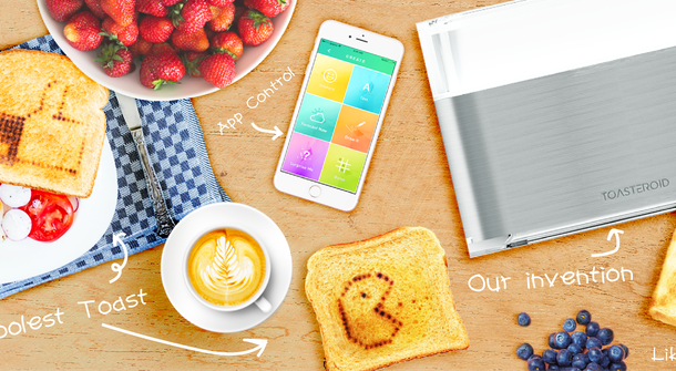 Toasteroid prints custom images on your toast