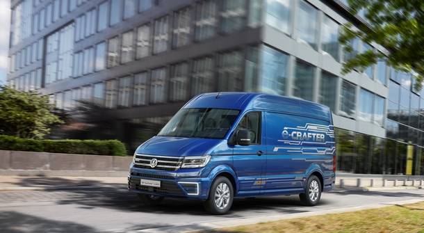 Volkswagen Crafter with electric motor
