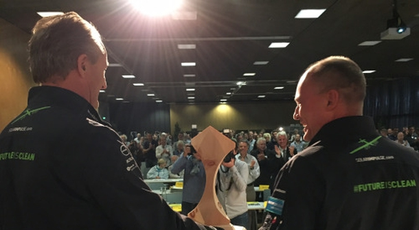 A Swiss solar prize for Bertrand Piccard and André Borschberg