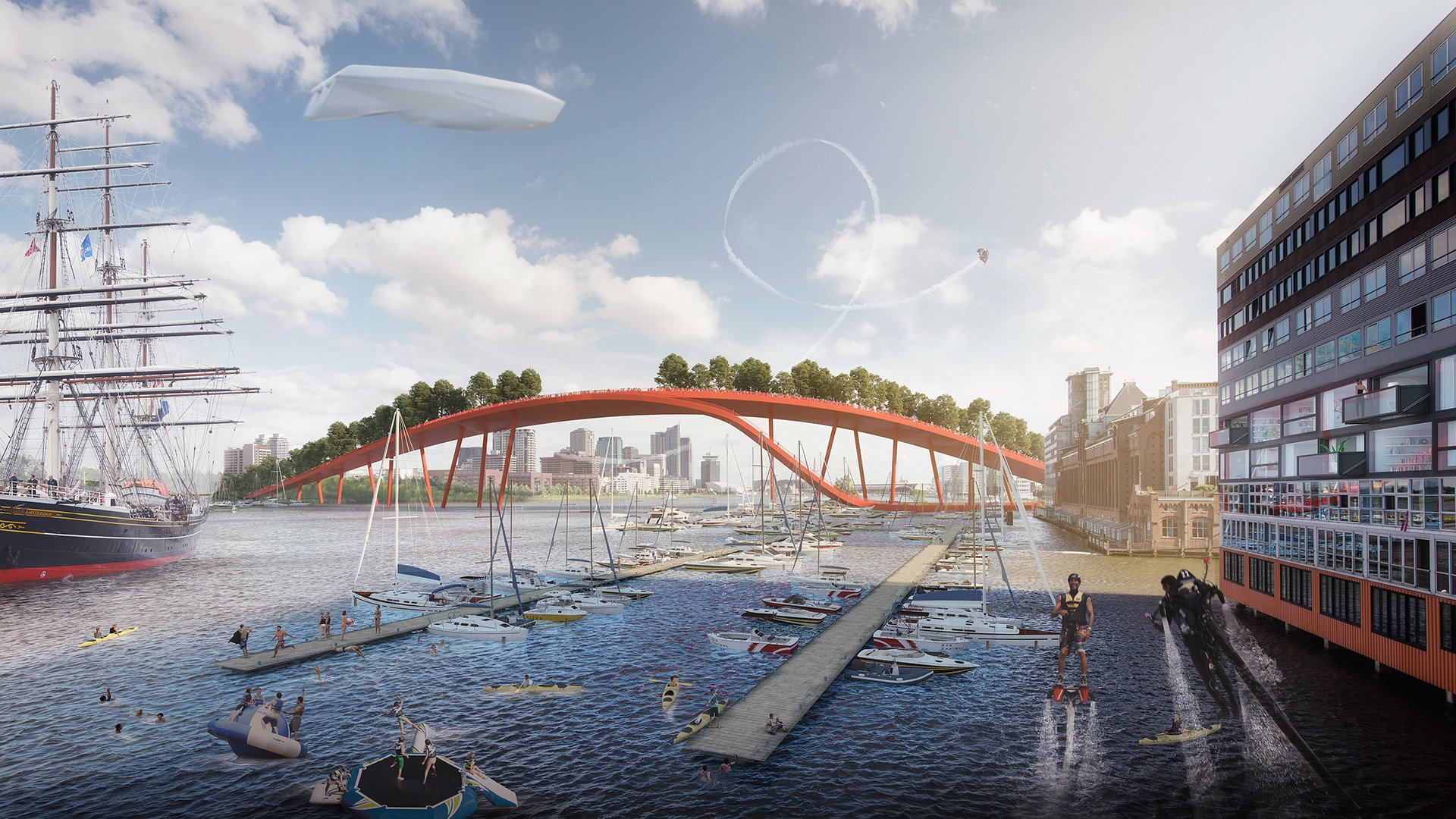 A natural park food market and urban farming the new for Architecture firm amsterdam