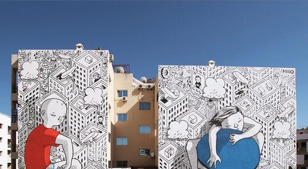 Street art: Millo and his massive monochromatic murals