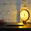 HENG Balance Lamp is a unique wooden lamp with switch in mid-air