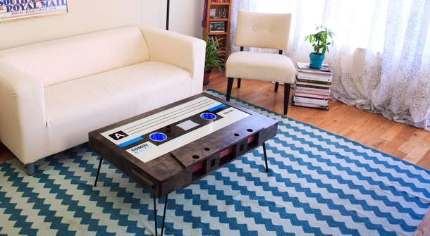 Taybles presents the Cassette Tape Coffee Table - a stylish reminder of times past