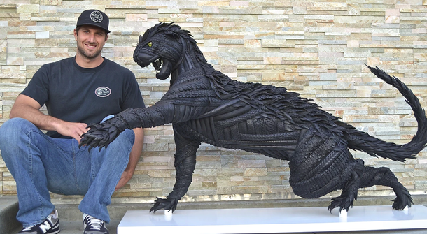 Why toss rubber when you can make amazing rubber sculptures?