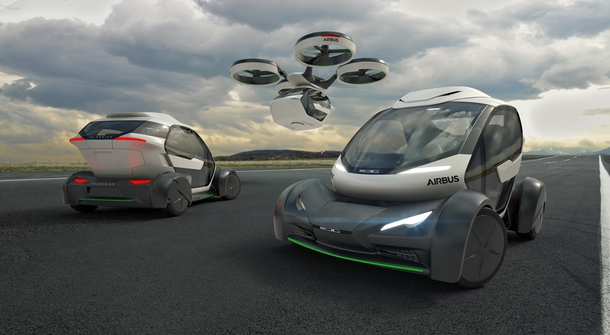 Airbus unveiled a 3-in-1 traiblazing modular ground and air passenger concept vehicle system