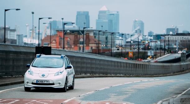Autonomous Nissan Leaf on the streets of London