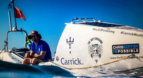 A world's first: man crosses Atlantic Ocean alone on a paddle board