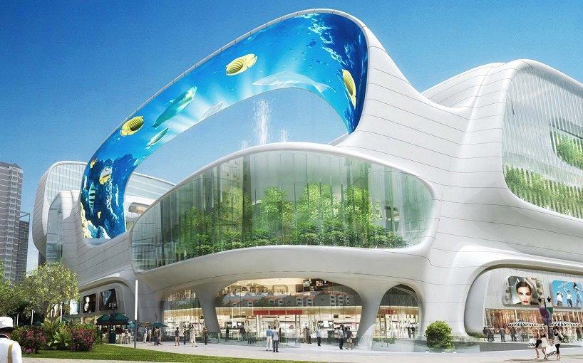 A Modern Shopping Mall: An Elevator Ride Through An ...