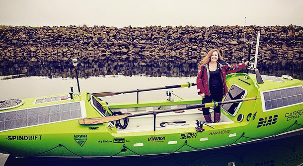 Sonya Baumstein sets off on a 9000-mile Rowing Odyssey across Pacific
