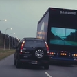 Overtaking can kill. Samsung's rear safety screen may save lives.
