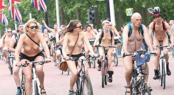 What it's like to bike nude?