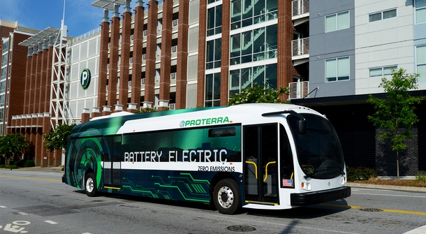 An electric bus, which can compare with diesel buses