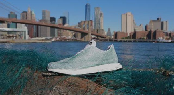 Adidas creates sneakers made entirely of ocean trash