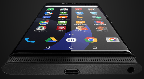 Leaked photos of Blackberry's first Android phone