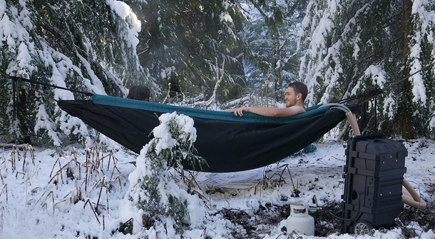 Just admit you want it! Hot tub hammock is waiting for you.