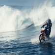 VIDEO: Surging the wild waves with a motorcycle