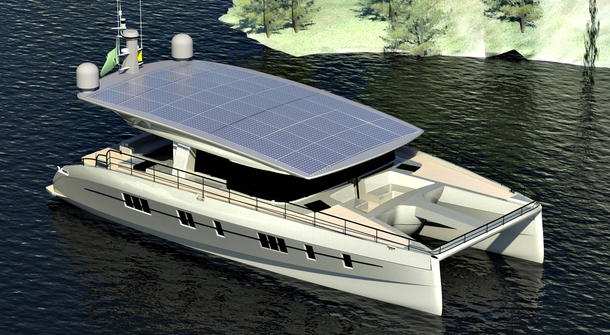 Catamaran Powered by Sun