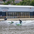 Surfing paradise: artificial waves, which travel 150 meters