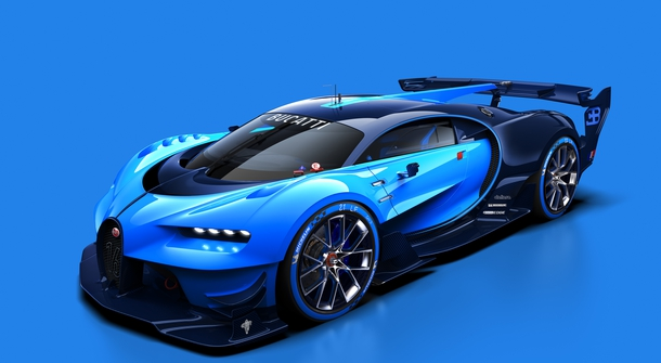 Bugatti Vision Gran Turismo: virtual concept displayed in reality