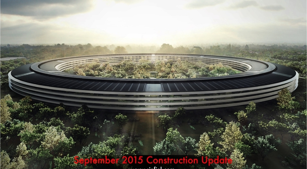 Apple's new offices look like a huge intergalactic doughnut