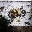 Buzzing the urban walls with a simple but important message: Save the bees!