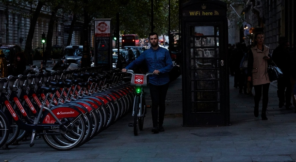 Safer cycling in London: 250 Santander hire bikes sporting the Blaze Laserlight