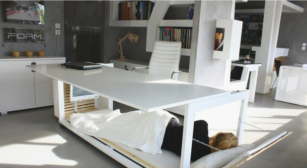 No bed at the office? You have to try this