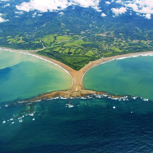 Nearby, you pass through the Marino Ballena Park, where the coast is shaped like a whale's tail, a sight mirrored by whales that visitors can spot along the shore. You can also go whitewater rafting on the Pacuare, the Reventazón, the Sarapiquí and the Savegre rivers. Or travel to two heavenly places, abundant with hot spring waters: the Arenal or Rincon de la Vieja volcanoes. 53% of the species forming the national bird populace live in the Arenal Volcano National Park, making it a paradise for birdwatchers.