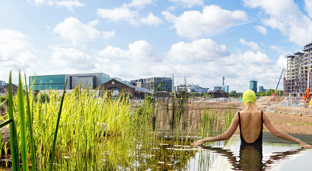 Take a dip into UK's first natural public swimming pool