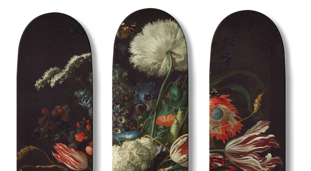 Surfboarding on collective art