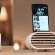 Amplio: Bamboo iPhone amplifier inspired by retro Radios
