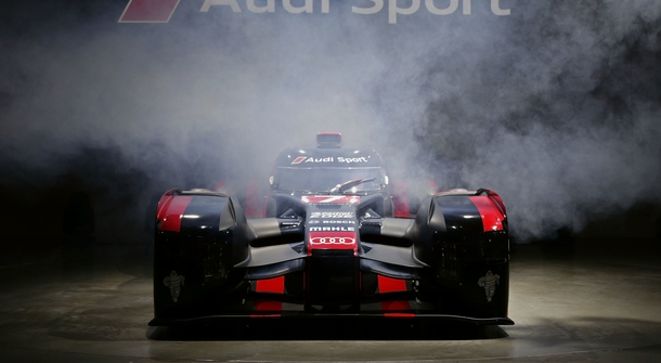 Audi's new hybrid race car for the 2016 Le Mans 24 Hours