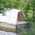 Micro house? Nomadic tent? No, it's a water bed!