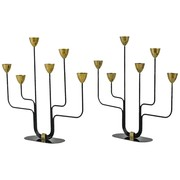 Pair of Large Gunnar Ander Candelabras for Ystad Metall, Sweden, 1960s