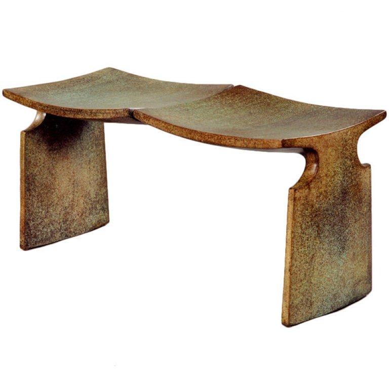 Bronze MFA Bench By American Studio Craft Artist David N. Ebner