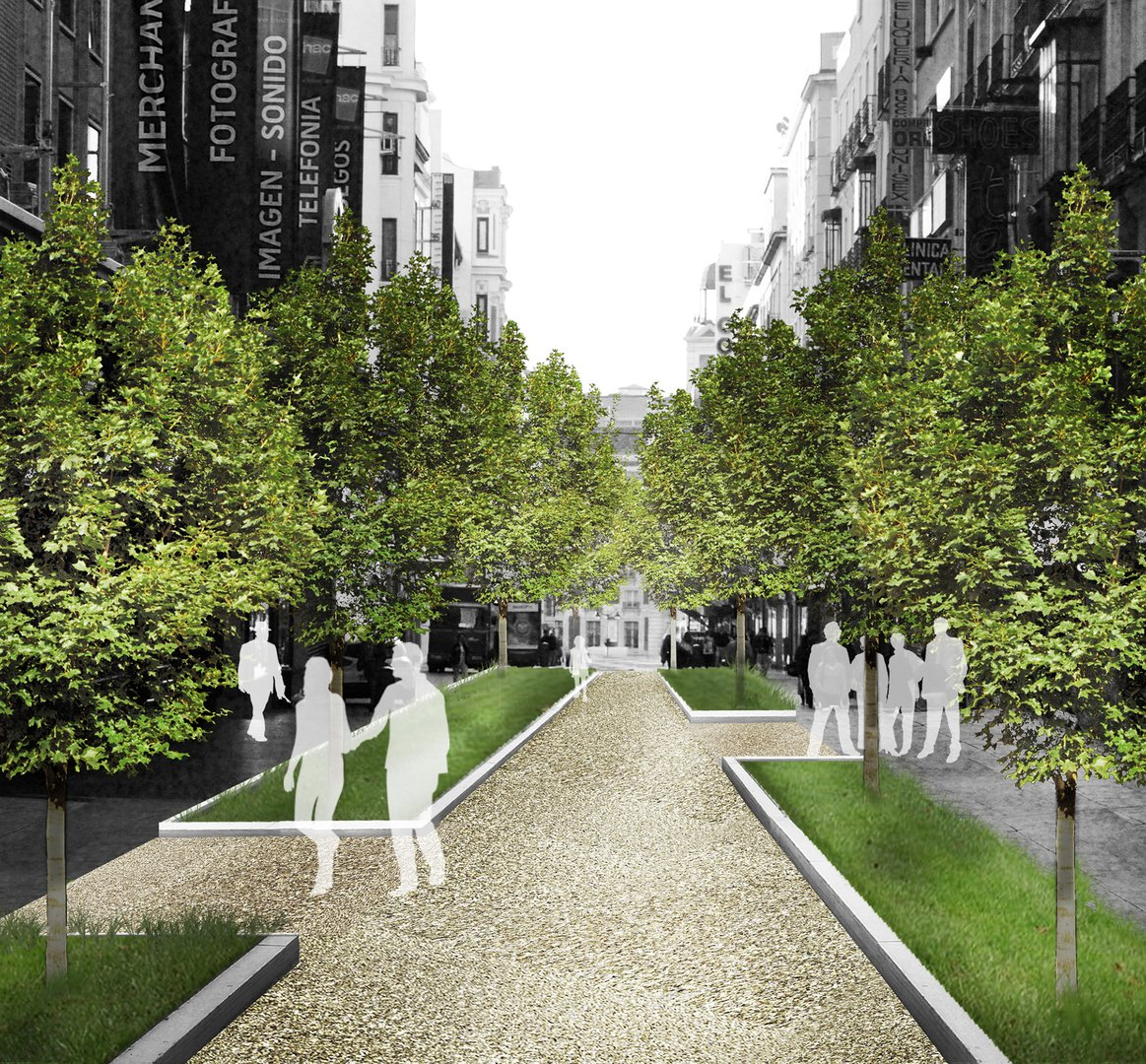 Arup 39 s vision of the spanish capital painting madrid for Design in the city